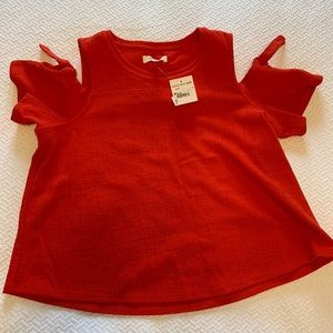 Madewell red top